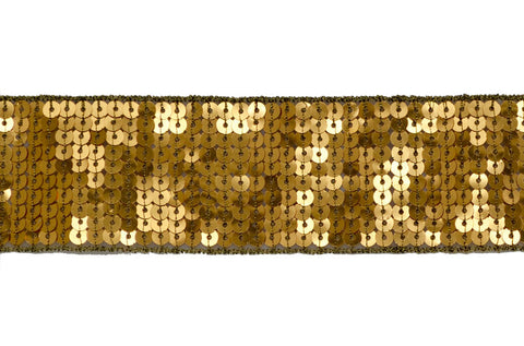 "1 1/2"" Sequin Ribbon Trim - Gold"