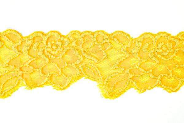 "2 1/2"" Stretch Lace - Golden Yellow"