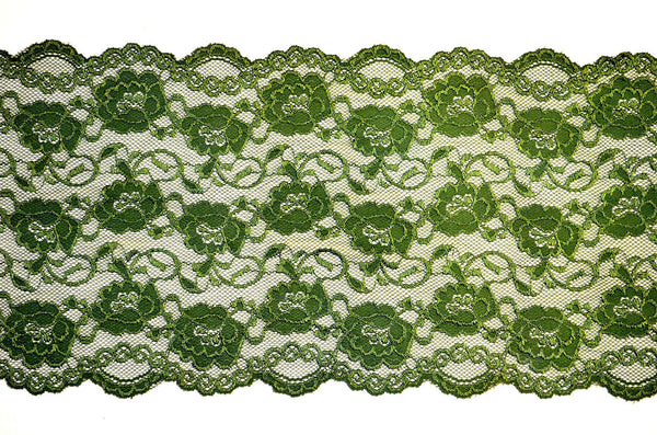"8"" Stretch Lace - P. Green"