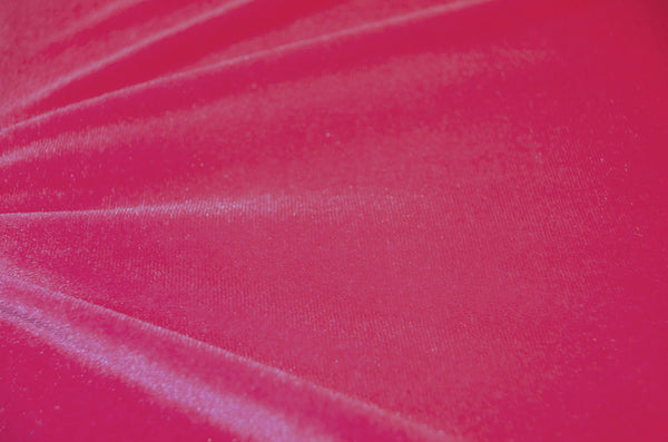 Hot Pink Stretch Velvet