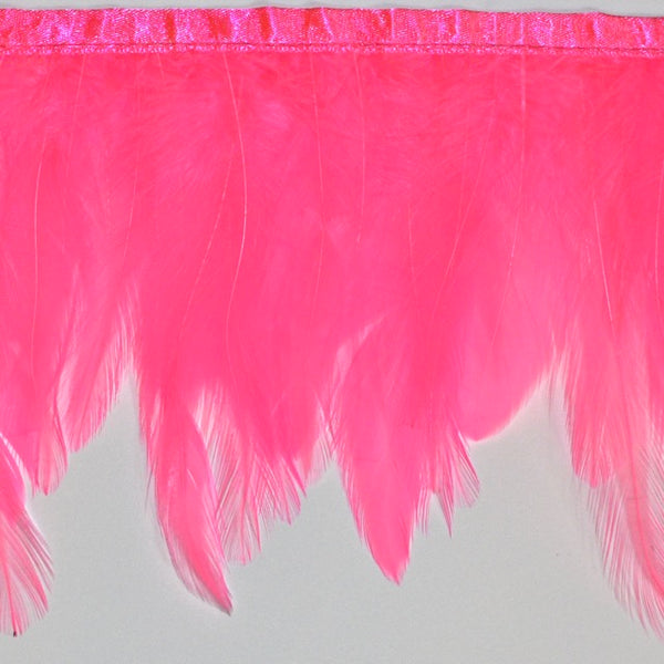 "4.5"" to 5"" Hot Pink Hackle Feather Fringe"