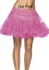 "15"" Nylon Chiffon Layered Petticoat - Available In 13 Colors"