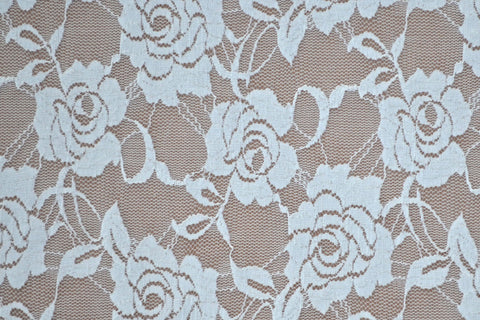 Ivory Stretch Lace