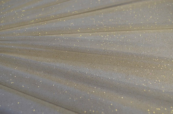 Ivory With Gold Glitter Sheer