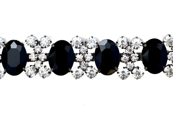 Jet And Crystal Rhinestone Trim