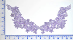 Lavender Appliqué Pair With Sequins And Beads