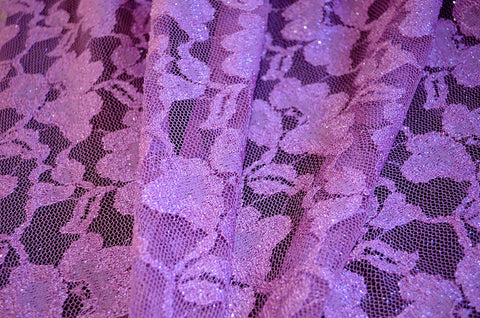Lavender With Glitter 2-Way Stretch Lace