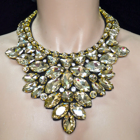 Gold Rhinestone Neck Piece