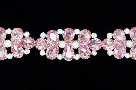 Light Pink Rhinestone Trim