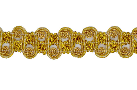 "1"" Metallic Braid Trim - Gold"