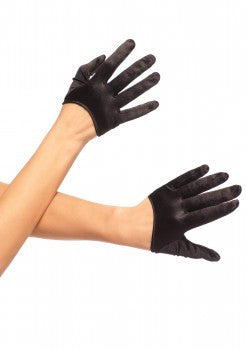 Mini Cropped Satin Gloves. Available in 3 colors.