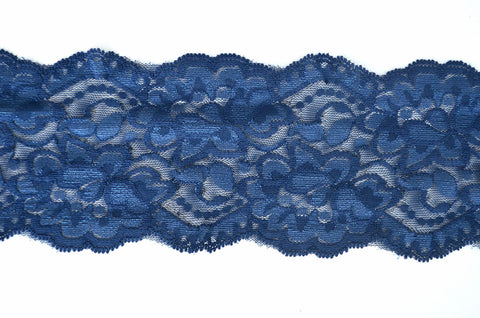 "3 1/2"" Stretch Lace - Navy"