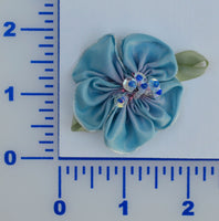 "1 3/4"" Flower With Sequins And Beads - 5 Colors Available - Packs of 6 or 12"