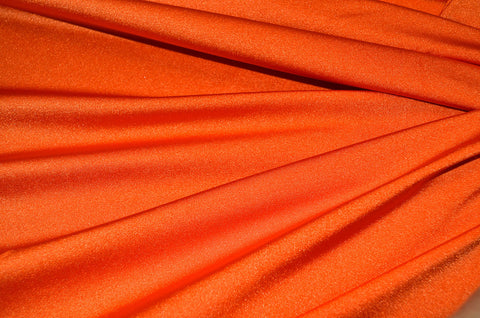 Orange Shiny Tricot Nylon Spandex