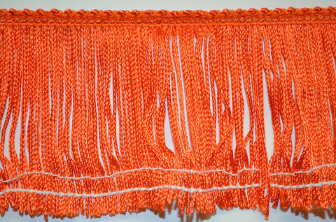 "3"" Orange Stretch Chainette Fringe"