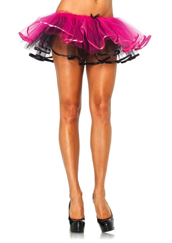 Reversible Ribbon Trimmed Tutu - Pink/Black