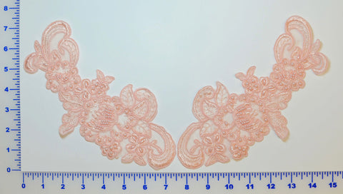 Blush Pair Appliqués With Sequins And Beads