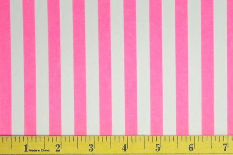 "3/8"" Pink & White Stripe Nylon Spandex. 4 Way Stretch"