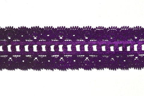 "1 1/4"" Stretch Lace - Purple"