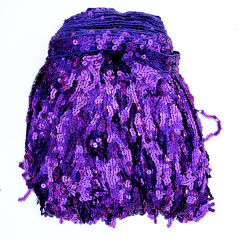 "12"" Purple Holographic Sequin Fringe"