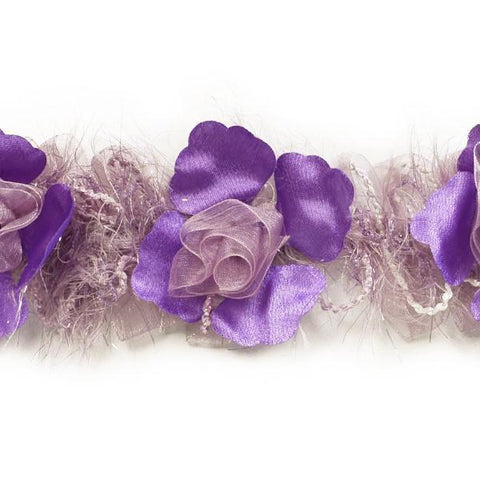 Purple & Lavender Stretch Flower Trim
