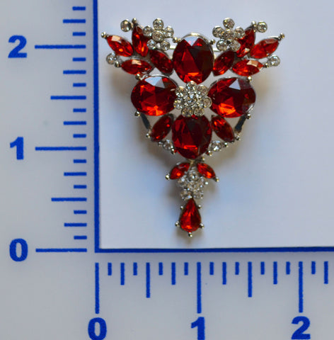 Light Siam Rhinestone Brooch