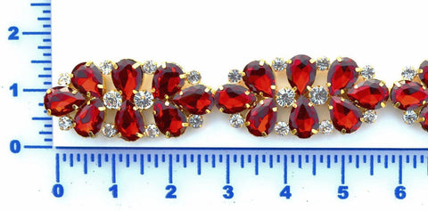 Red Rhinestone Trim