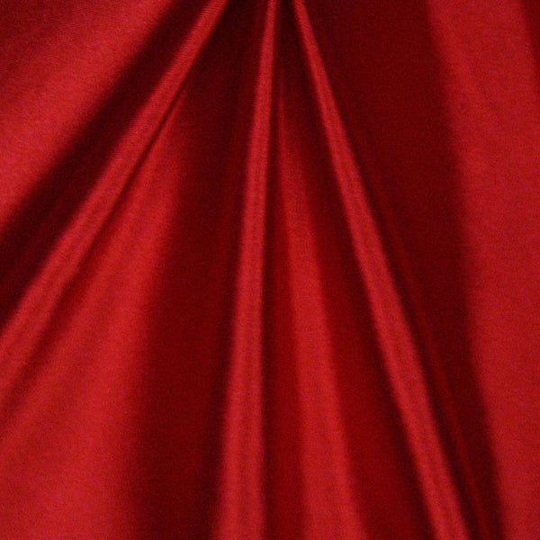 Solid Stretch Satin - Red