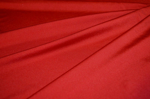 Red Shiny Tricot Nylon Spandex