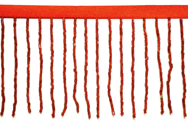 "3"" Red Glass Bead Fringe"
