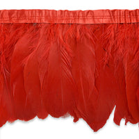 "6"" Red Feather Fringe"
