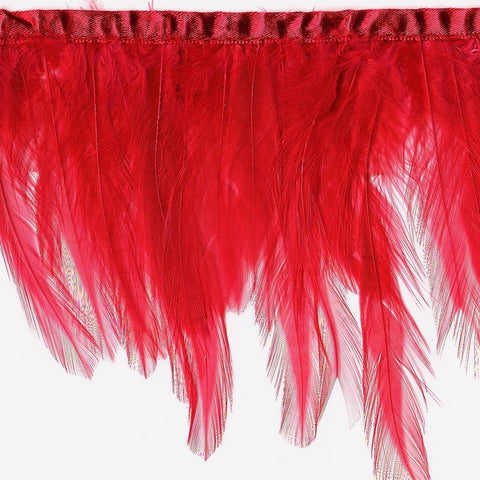 "4"" to 4.5"" Red Hackle Feather Fringe"
