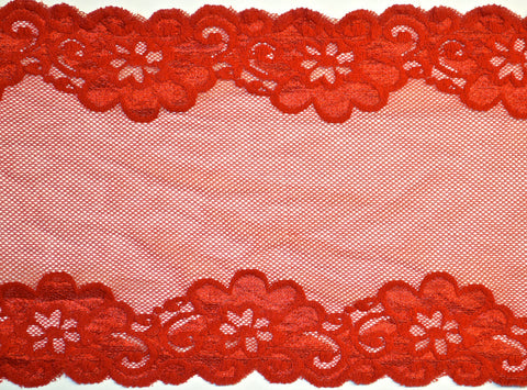 "7 1/4"" Stretch Lace - Red"