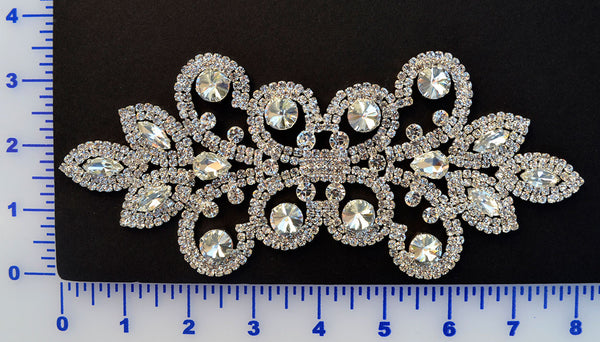 Rhinestone Appliqué - Set In Metal