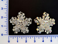 Crystal or Crystal A.B. Rhinestone Flower Brooch