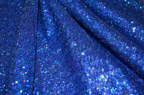 Royal Holographic Sequin 4 Way Stretch