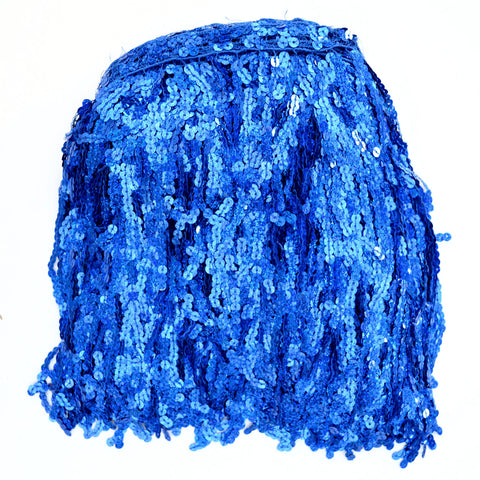 "12"" Royal Holographic Sequin Fringe"