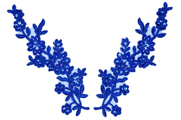 Royal Pair Appliqués With Sequins And Beads
