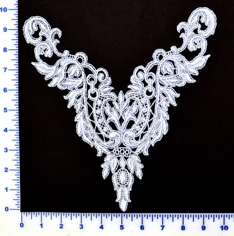 Silver Metallic Lace Appliqué