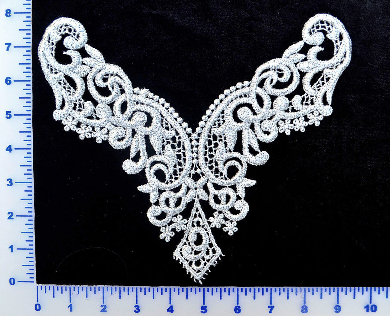 Silver metallic lace appliqué u make your own dance costume