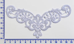 Silver Metallic Venise Lace Appliqué