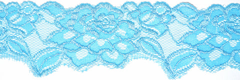 "2 1/2"" Stretch Lace - Sky Blue"