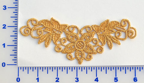 Gold Metallic Lace Appliqué