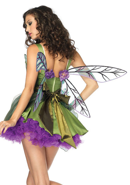 Strapless Woodland Fairy Wings - Purple/Green