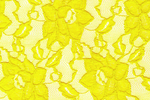 Yellow Stretch Lace