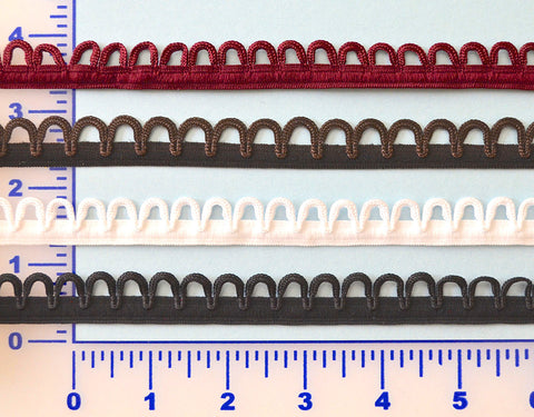 "5/8"" Stretch Eyelet Trim - 4 Colors Available"