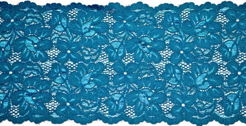 "5 1/2"" Stretch Lace - Teal"