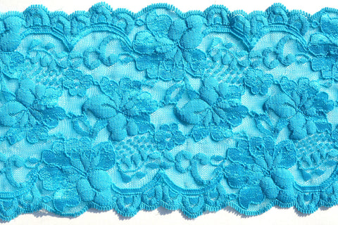 "5 1/2"" Stretch Lace - Turquoise"