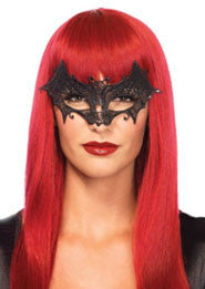 Vampire Bat Venetian Applique Eye Mask