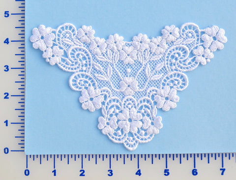 White Venise Lace Appliqué